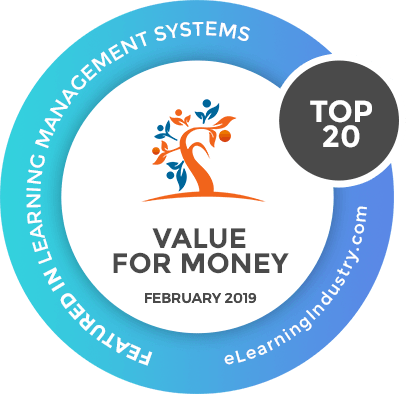 Brainier Named Best Value for Money Learning Management System for Small Businesses from eLearningIndustry.com