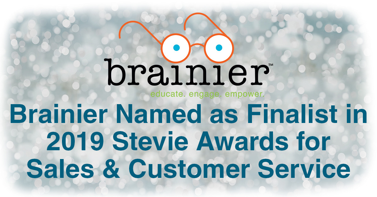 Brainier Named as Finalist in 2019 Stevie Awards for Sales & Customer Service
